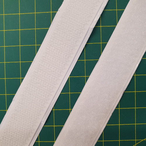 Stick & Stick 20mm Hook & Loop Tape in White