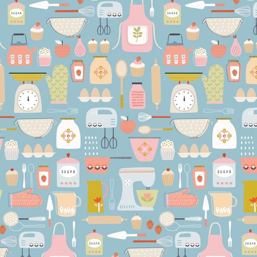 Hobbies - Baking by Sally Payne Cotton Quilt Fabric