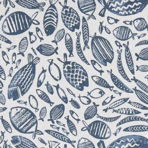 Oilcloth - Trawler in Navy