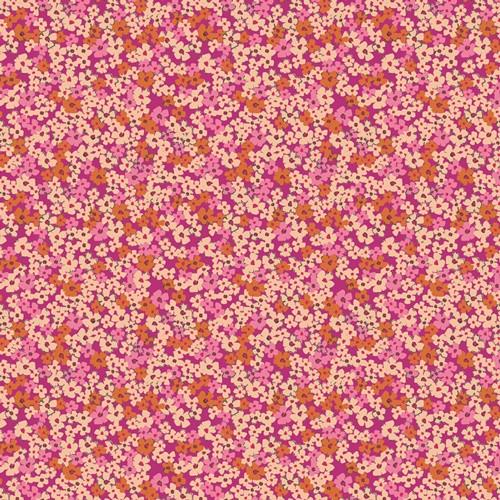 The Flower Society -  Retro Prairie Blush in Cotton