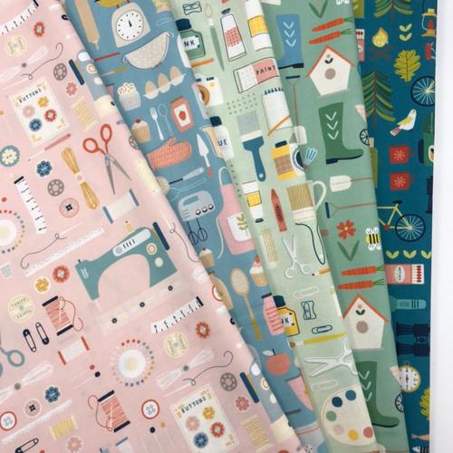 Hobbies by Dashwood Studio - 5 fat quarter bundle
