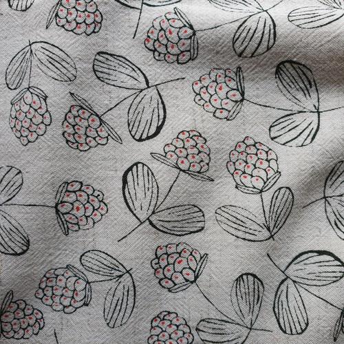 Raspberry Linen Viscose in Ecru
