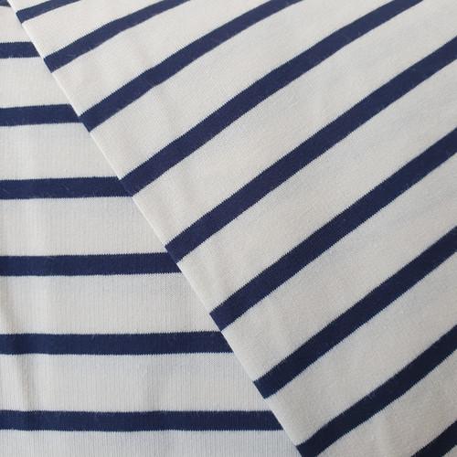 Sweatshirt Stripe French Terry in Ecru