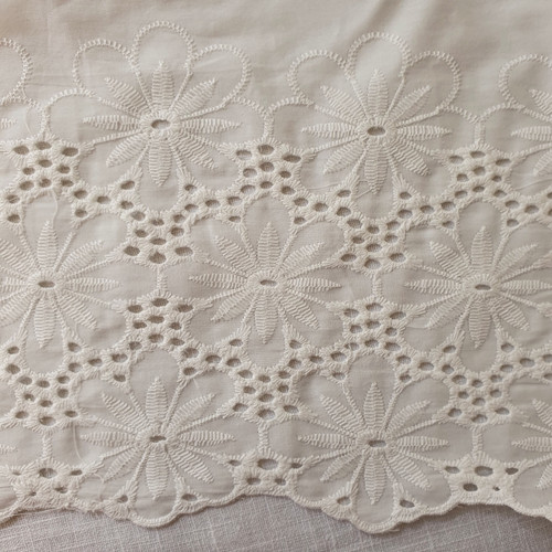 Large Floral Embroidered Voile