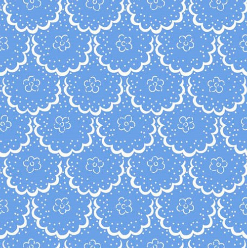 Cottage Blooms - Lace in Blue