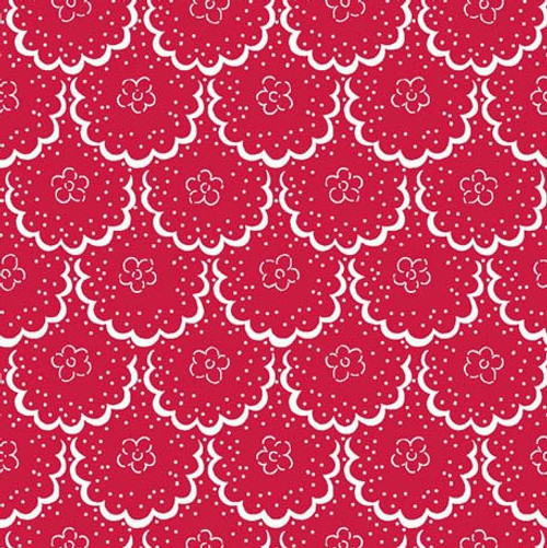 Cottage Blooms - Lace in Red