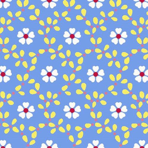 Cottage Blooms - Bloom Allover in Blue