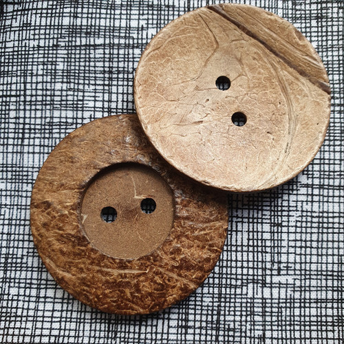 Coconut Shell Button 50mm
