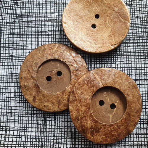 Coconut Shell Button 38mm