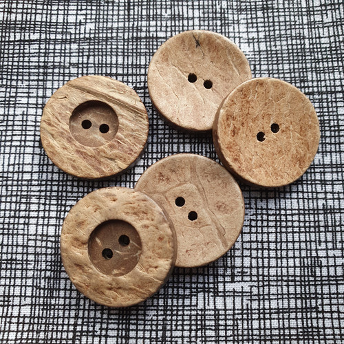Coconut Shell Button 25mm