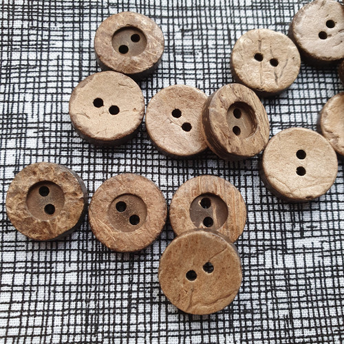 Coconut Shell Button 15mm