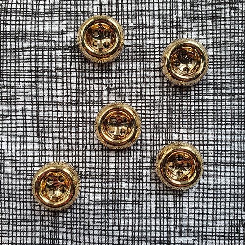 Chunky Button 15mm in Gold
