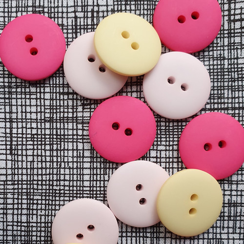Matte 2-hole Buttons 20mm- Assorted Colours