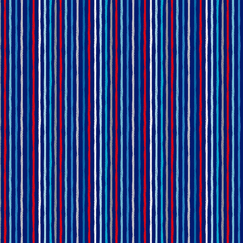 Beside the Sea - Chalky Stripe in Navy