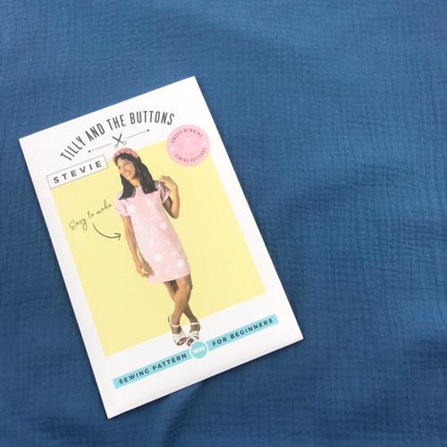Stevie Top Dressmaking Kit in Blue  (Sizes UK6-UK14)