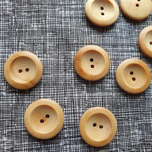 Wedge Rim Wood Button 28mm