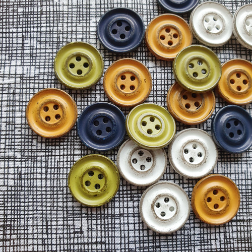 Vintage Wash Italian Buttons 15mm