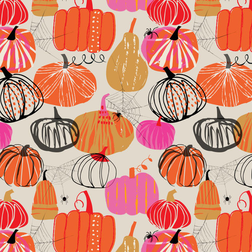 Full Moon by Dashwood - Pumpkins in Orange - Quilt Cotton Fabric