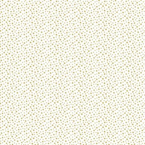 Essentials by Makower - Stars in Gold Quilt Cotton Fabric
