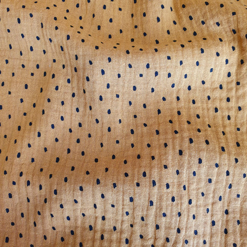 Dots Cotton Double Gauze in Ochre