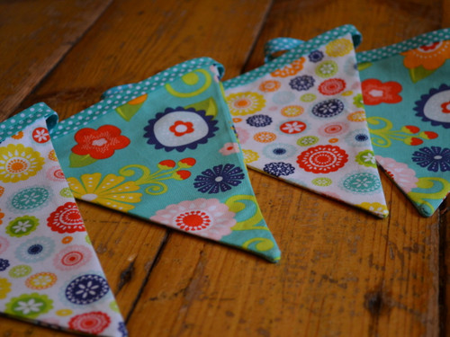 Bunting at The Sewing Cafe - Sewing workshop