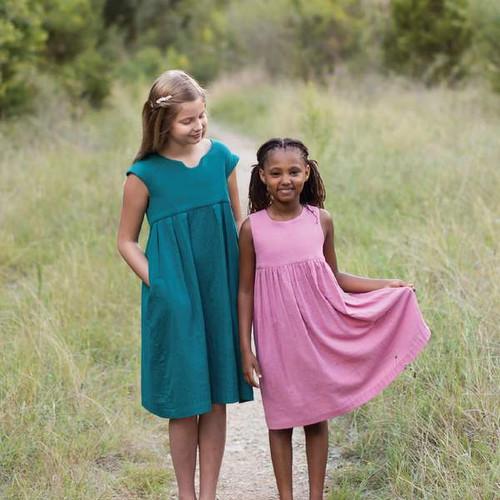 Geranium Girl's Dress Pattern 6-12 years