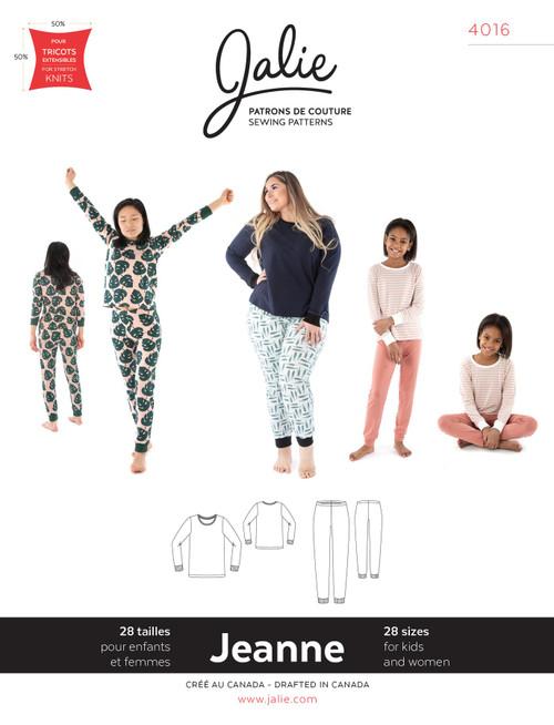 Jeanne Jersey PJ Women & Girls Pattern