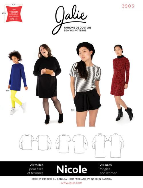 Nicole Knit Top & Dress Women & Girls Pattern