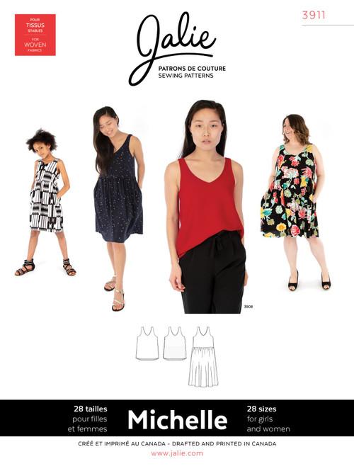 Michelle Top and Dress Women & Girls Pattern