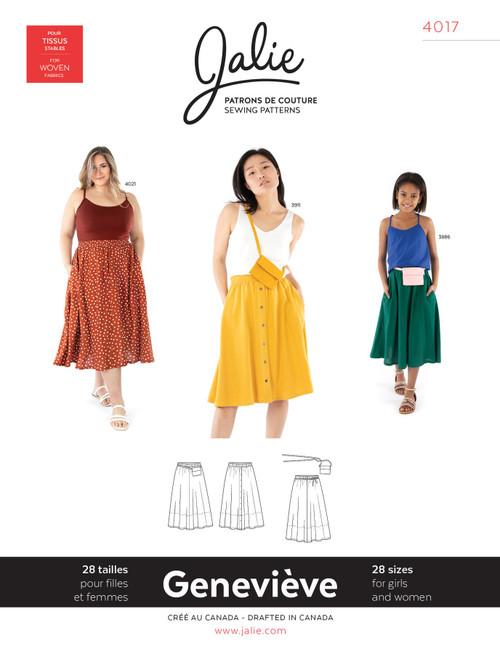 Genevieve Gathered Skirt Women & Girls Pattern