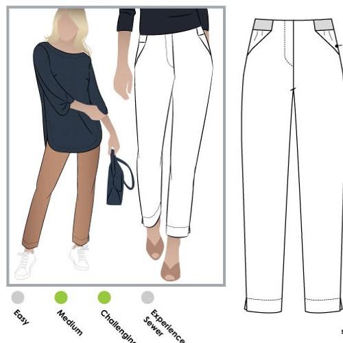 Sadie Pant Trouser Pattern Size 4-16 (UK-6-18)