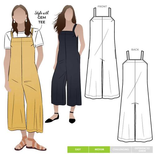 Mildred Jumpsuit Pattern Size 4-16  (UK 6-18)