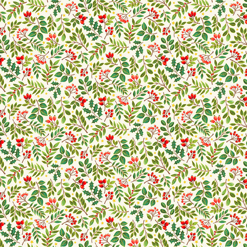 Classic Christmas by Makower - Christmas Sprigs in Cream