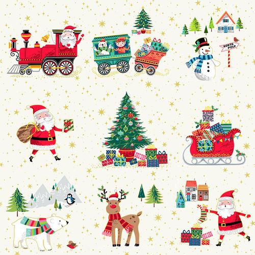 Santa Express by Makower - Christmas Scene