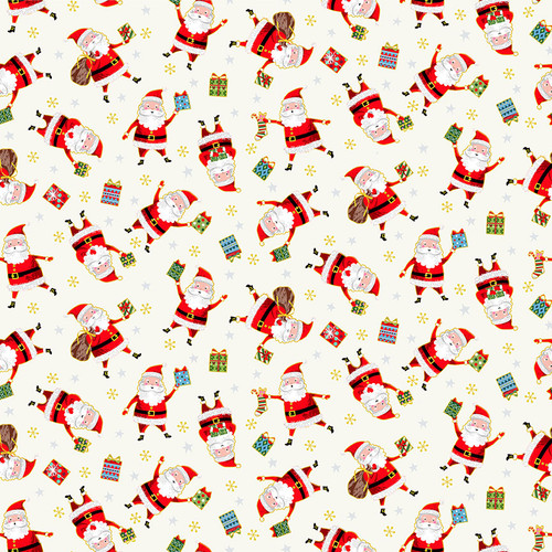 Santa Express by Makower - Santa in Cream