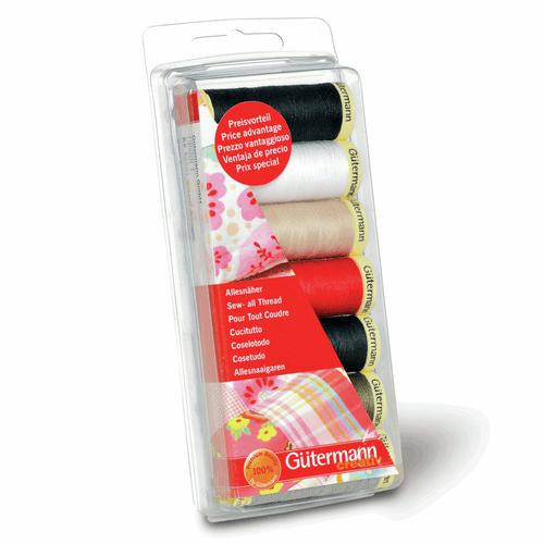 Gutermann 7 Pack Thread Set - Essentials