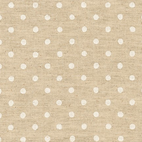 Canvas Natural Dots in White
