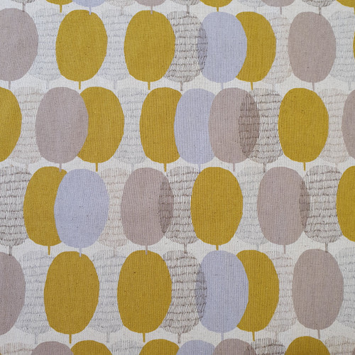 Plums Cotton Linen Canvas in Chartreuse