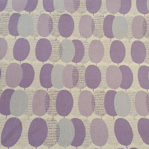 Plums Cotton Linen Canvas in Lilac