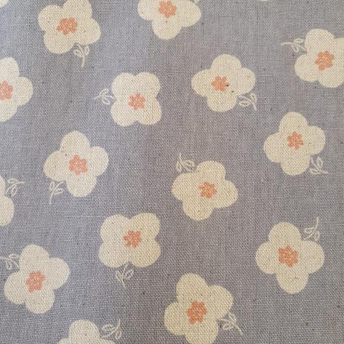 Buttercup Cotton Linen Canvas in Grey