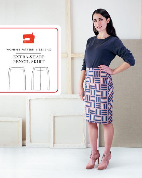 Extra Sharp Pencil Skirt Pattern from Liesl + Co