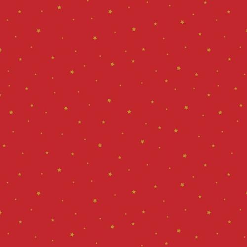 Christmas Star Poplin in Red