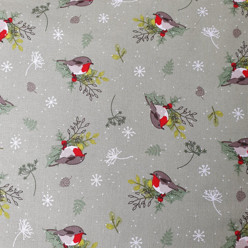 Christmas Robin in Sage