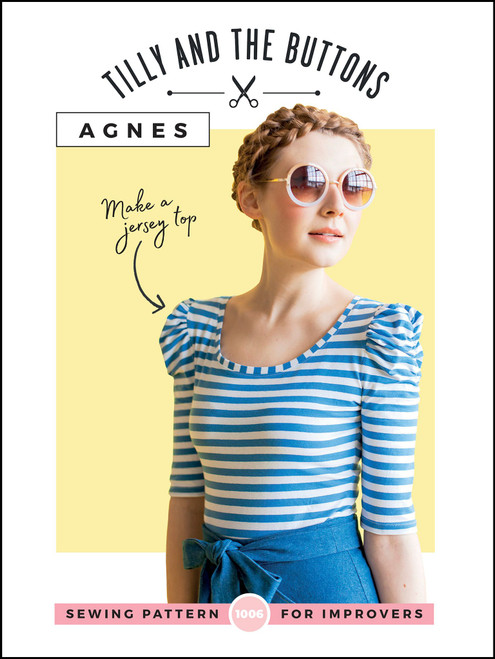 Agnes Jersey Top pattern by Tilly and the Buttons