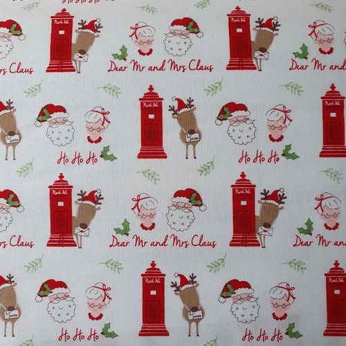 Christmas Post Mr & Mrs Claus in White