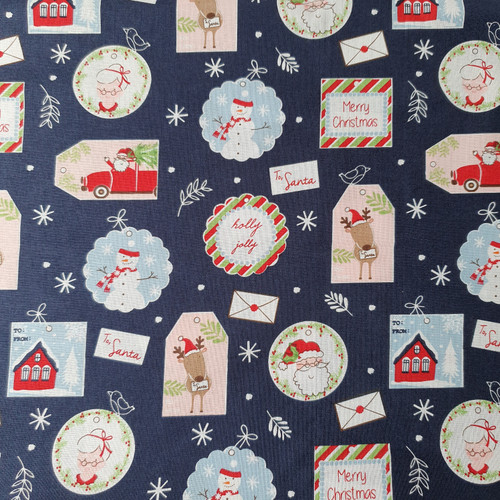 Christmas Post Gift Tags in Navy
