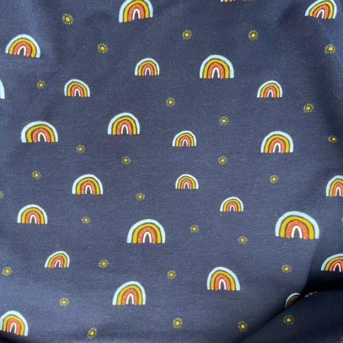 Rainbow Sweatshirt Jersey in Navy