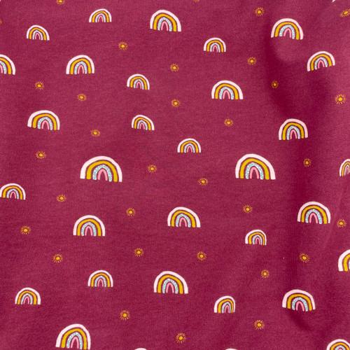 Rainbow Sweatshirt Jersey in Plum