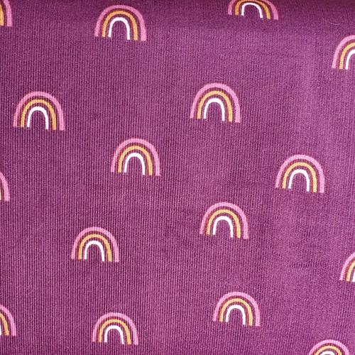 Rainbow Baby Needle Cord in Aubergine
