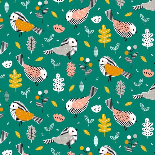 Acorn Wood Birdie in Green